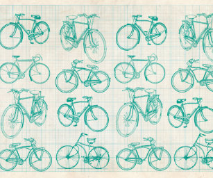 Blueprint wrapping paper zazzle bicycle blueprint design wrapping paper malvernweather Image collections