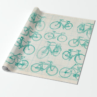 Blueprint wrapping paper zazzle bicycle blueprint design wrapping paper malvernweather Gallery