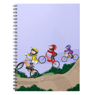 Bicycle BMX all land in competition Spiral Notebook