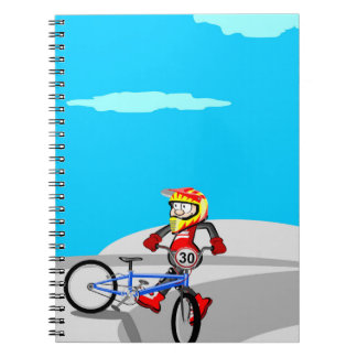 Bicycle BMX carries far diversion Spiral Notebook