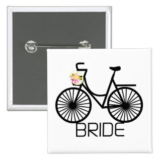 Bicycle Bride Tshirts and Gifts 15 Cm Square Badge