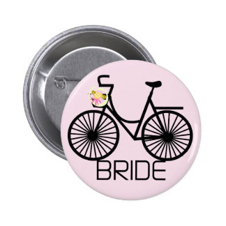 Bicycle Bride Tshirts and Gifts Pinback Button