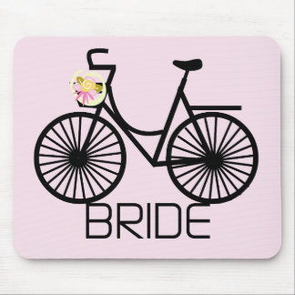 Bicycle Bride Tshirts and Gifts Mouse Mat