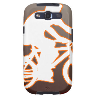 BICYCLE BROWN CIRCLE PRODUCTS GALAXY S3 CASES