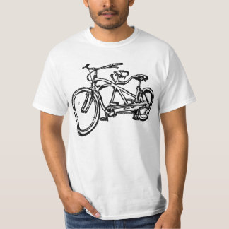 Bicycle built for 2 (antique schwinn tandem) bike t-shirts