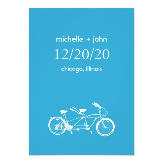 Bicycle Built For Two Save The Date (Blue)