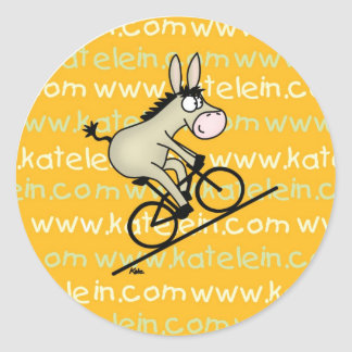 Bicycle button stickers