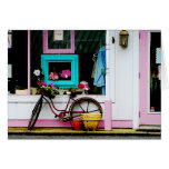 Bicycle by Antique Shop Card