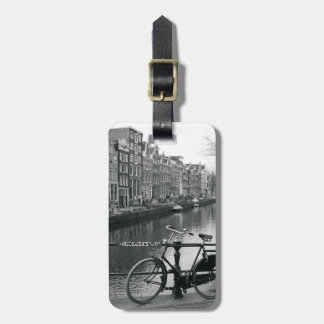 Bicycle by Canal Luggage Tag