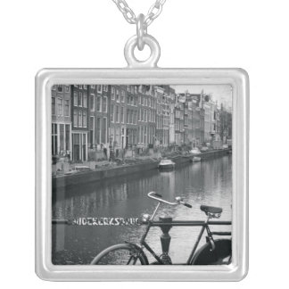 Bicycle by Canal Silver Plated Necklace