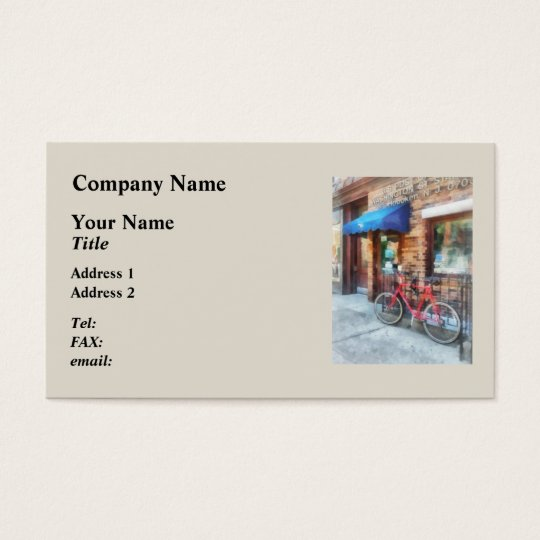 Bicycle By Post Office Business Card