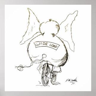 Bicycle Cartoon 1078 Poster