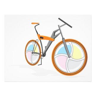 Bicycle cartoon custom flyer