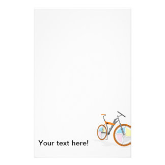Bicycle cartoon stationery design