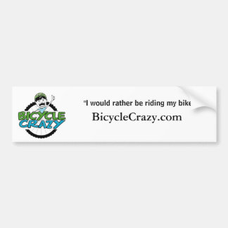 Bicycle Crazy Bumper Sticker