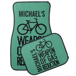 Bicycle custom name & color car floor mats
