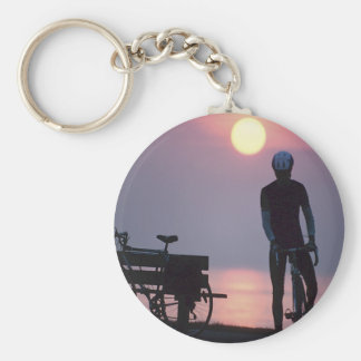 Bicycle Cycle Bicycling Cycling Quebec Canada Key Ring
