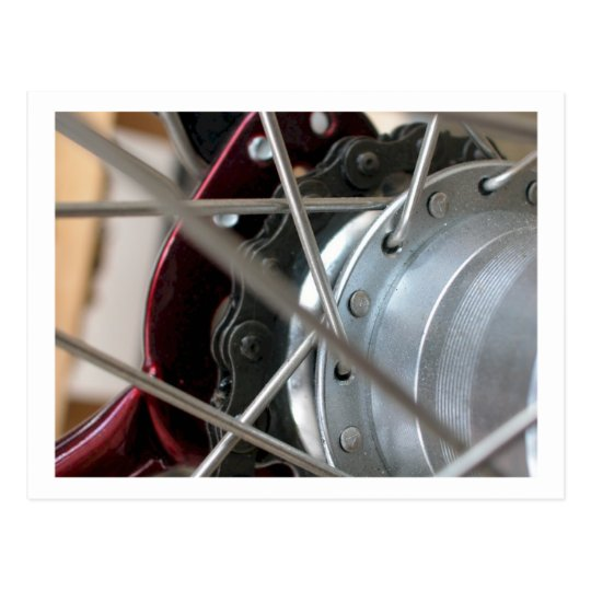 Bicycle Cycle Bicycling Cycling Rear Wheel Spokes Postcard