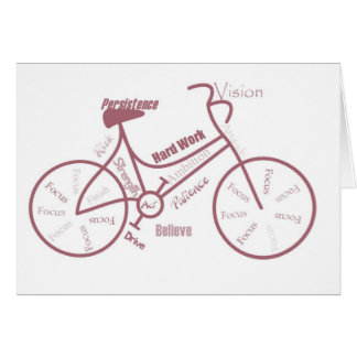 Bicycle, Cycle, Bike, Motivational Words Card