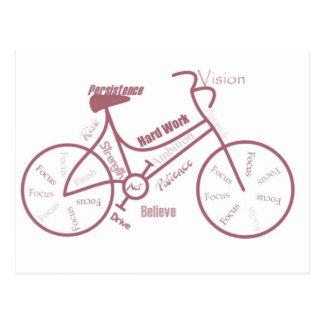 Bicycle, Cycle, Bike, Motivational Words Postcard