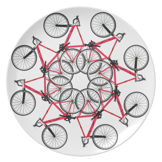 Bicycle cycle party plates