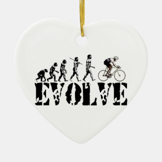 Bicycle Cycling Bike Riding Evolution Sports Art Ceramic Heart Decoration