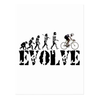 Bicycle Cycling Bike Riding Evolution Sports Art Postcard