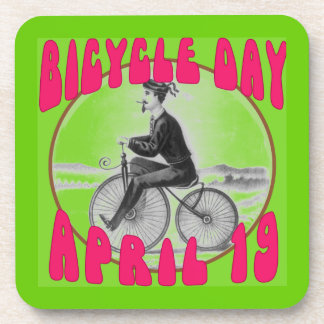 BICYCLE DAY April 19 Beverage Coaster