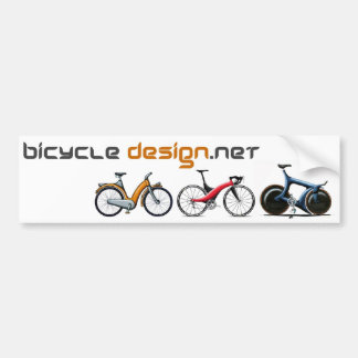 Bicycle Design Bumper Sticker
