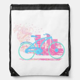 Bicycle Design  Drawstring Backpack