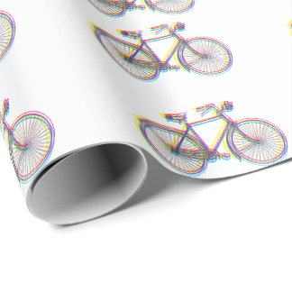 Bicycle design wrapping paper