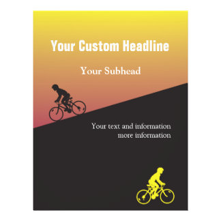 Bicycle Event Flyer with Custom Text
