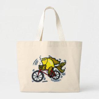 Bicycle Fish Bike Canvas Bag