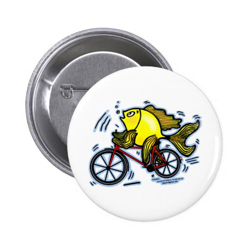 Bicycle Fish (Bike) funny button