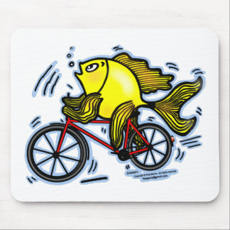 Bicycle Fish (Bike) Mouse Pad