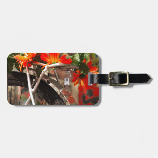 Bicycle Flowers Luggage Tag