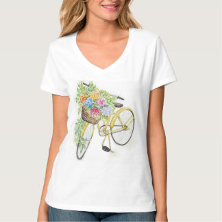 Bicycle & flowers T-Shirt