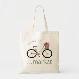 Bicycle - Going To Market Tote Bag
