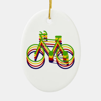 Bicycle Graphics Christmas Ornament