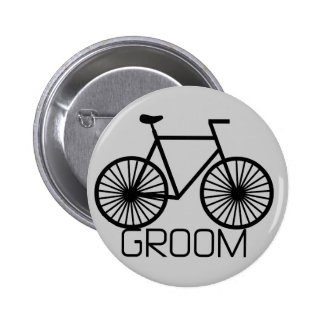 Bicycle Groom Tshirts and Gifts Pinback Buttons