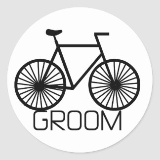 Bicycle Groom Tshirts and Gifts Classic Round Sticker