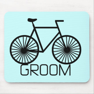 Bicycle Groom Tshirts and Gifts Mouse Pad