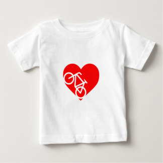 Bicycle Heart Baby T-shirt