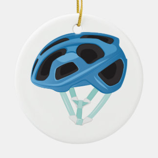 Bicycle Helmet Round Ceramic Decoration