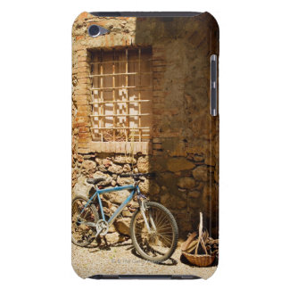 Bicycle in front of a wall, Monteriggioni, Siena Barely There iPod Covers