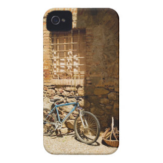 Bicycle in front of a wall, Monteriggioni, Siena iPhone 4 Case-Mate Case