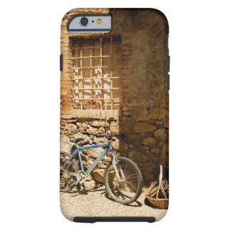 Bicycle in front of a wall, Monteriggioni, Siena Tough iPhone 6 Case