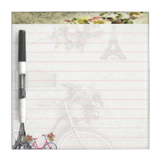 Bicycle in Paris Dry Erase Board