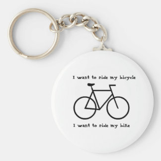 Bicycle love basic round button key ring
