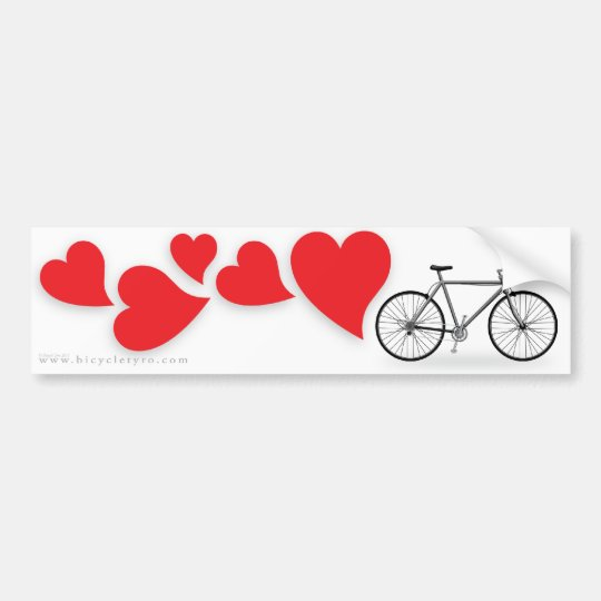 Bicycle Love Bumpersticker Bumper Sticker